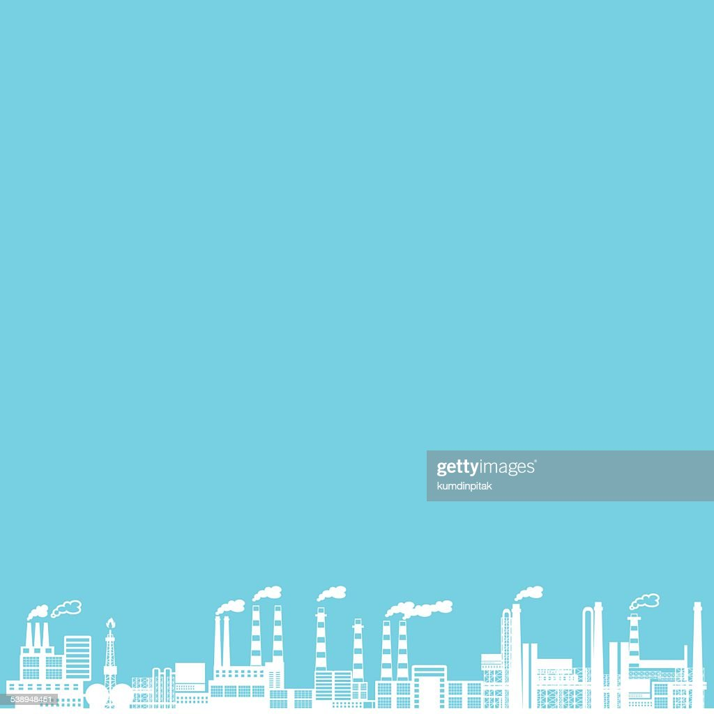 industry on blue background