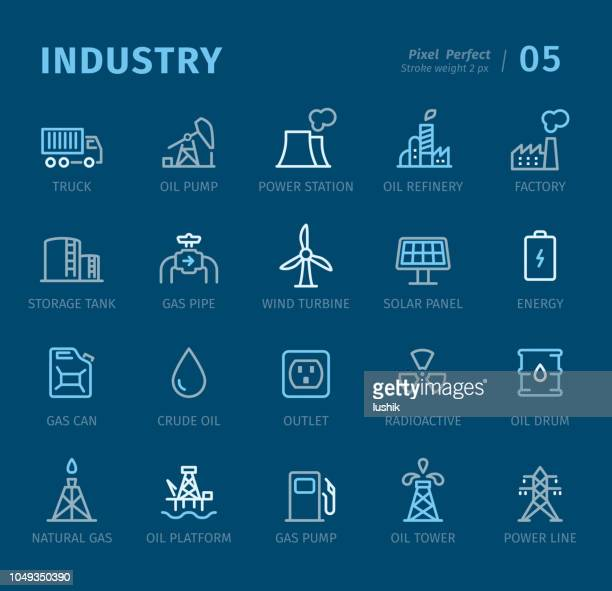 Industry - Outline icons with captions