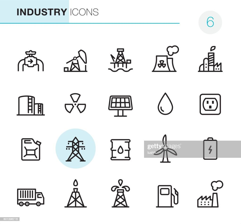 Industry - Pixel Perfect icons : stock illustration