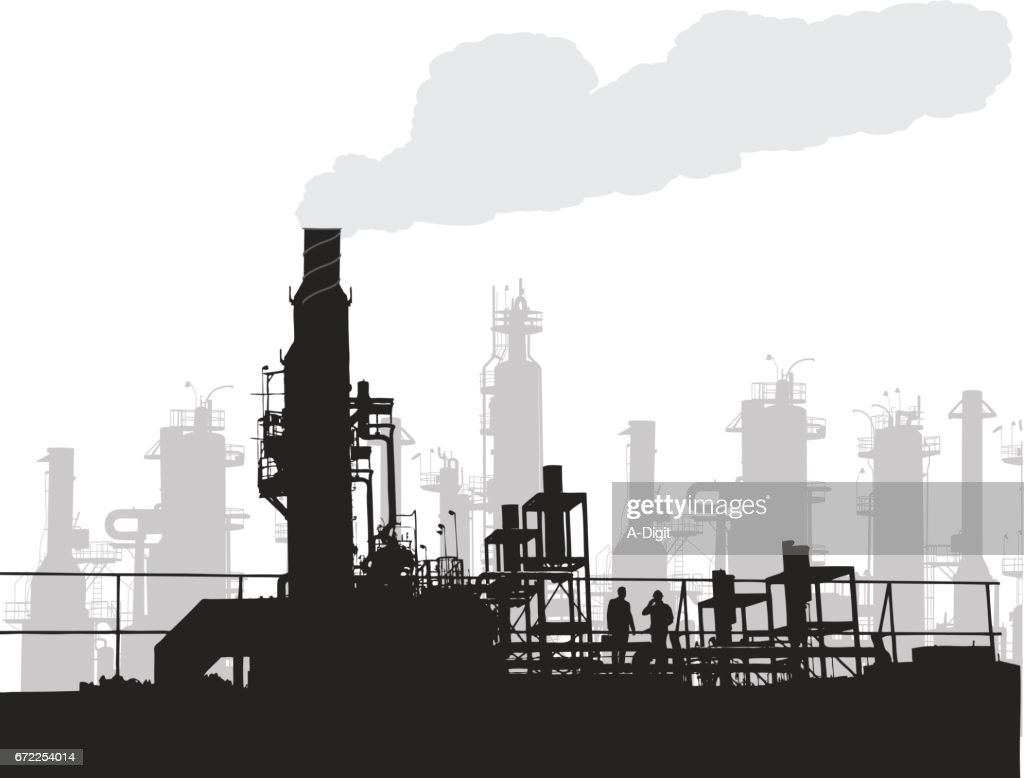 Industry Pollustion : stock illustration