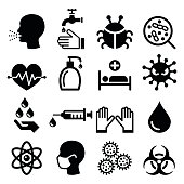 Infection, virus - health icons set