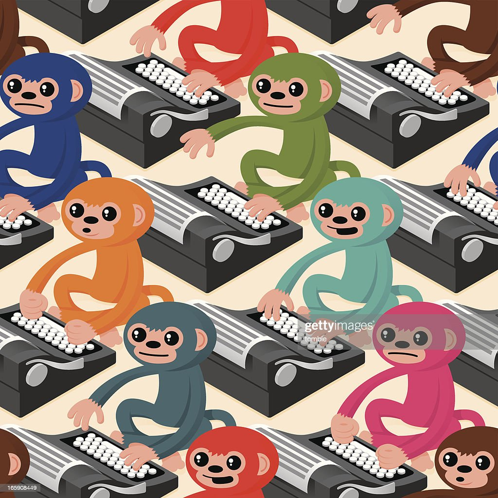 Infinite Monkeys on Typewriters (Seamless Pattern)