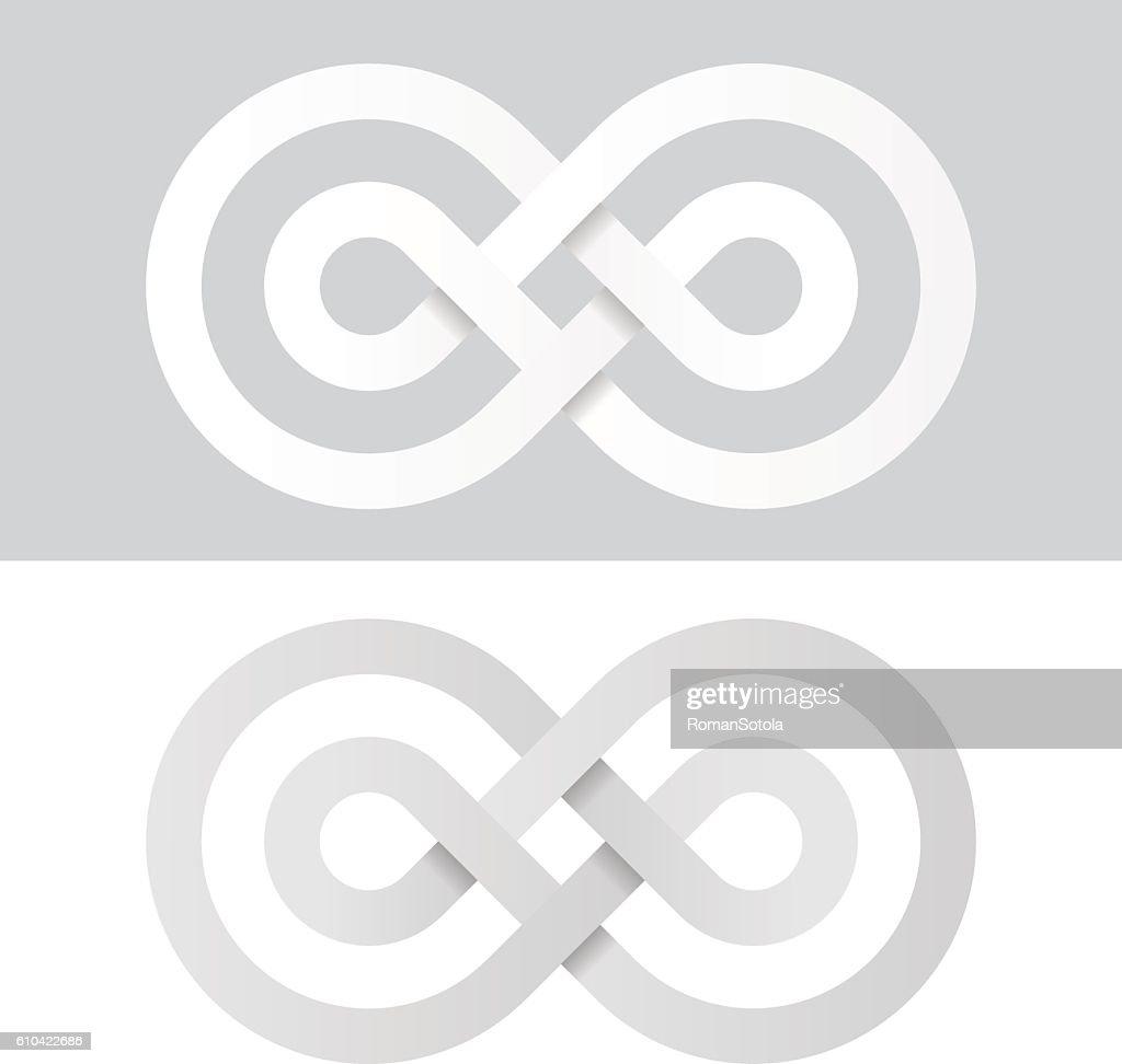 infinity eternity white paper symbol