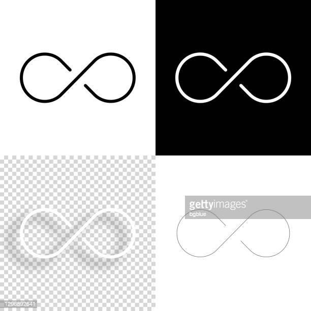 infinity. icon for design. blank, white and black backgrounds - line icon - infinity stock illustrations