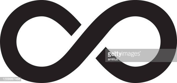 infinity logo - eternity stock illustrations