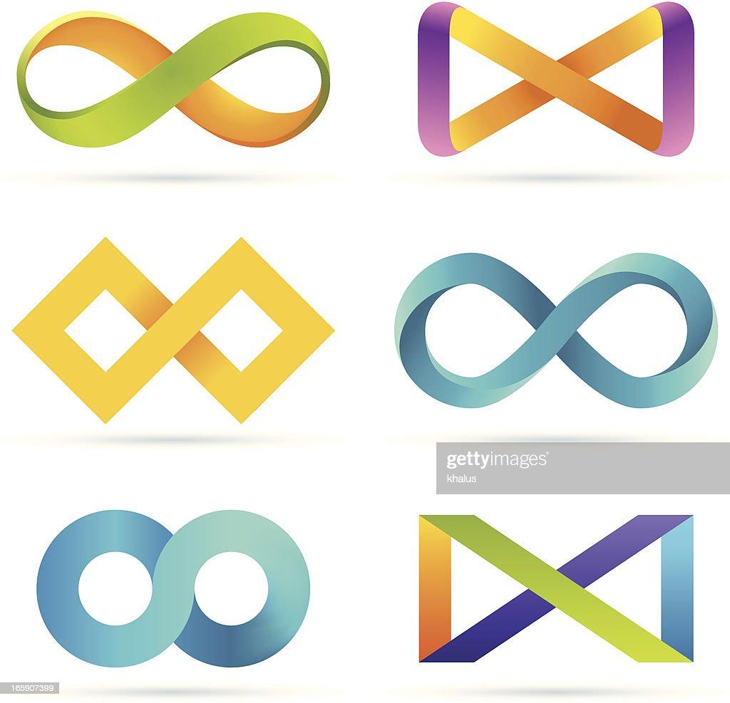 Infinity set : stock illustration