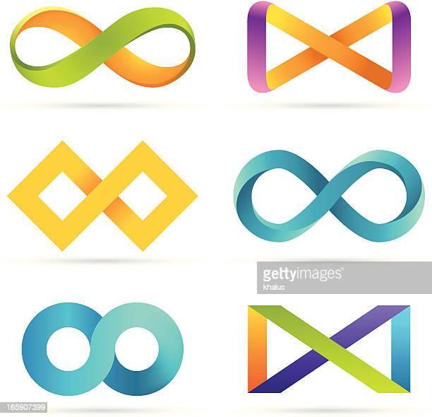 infinity set - clip art stock illustrations