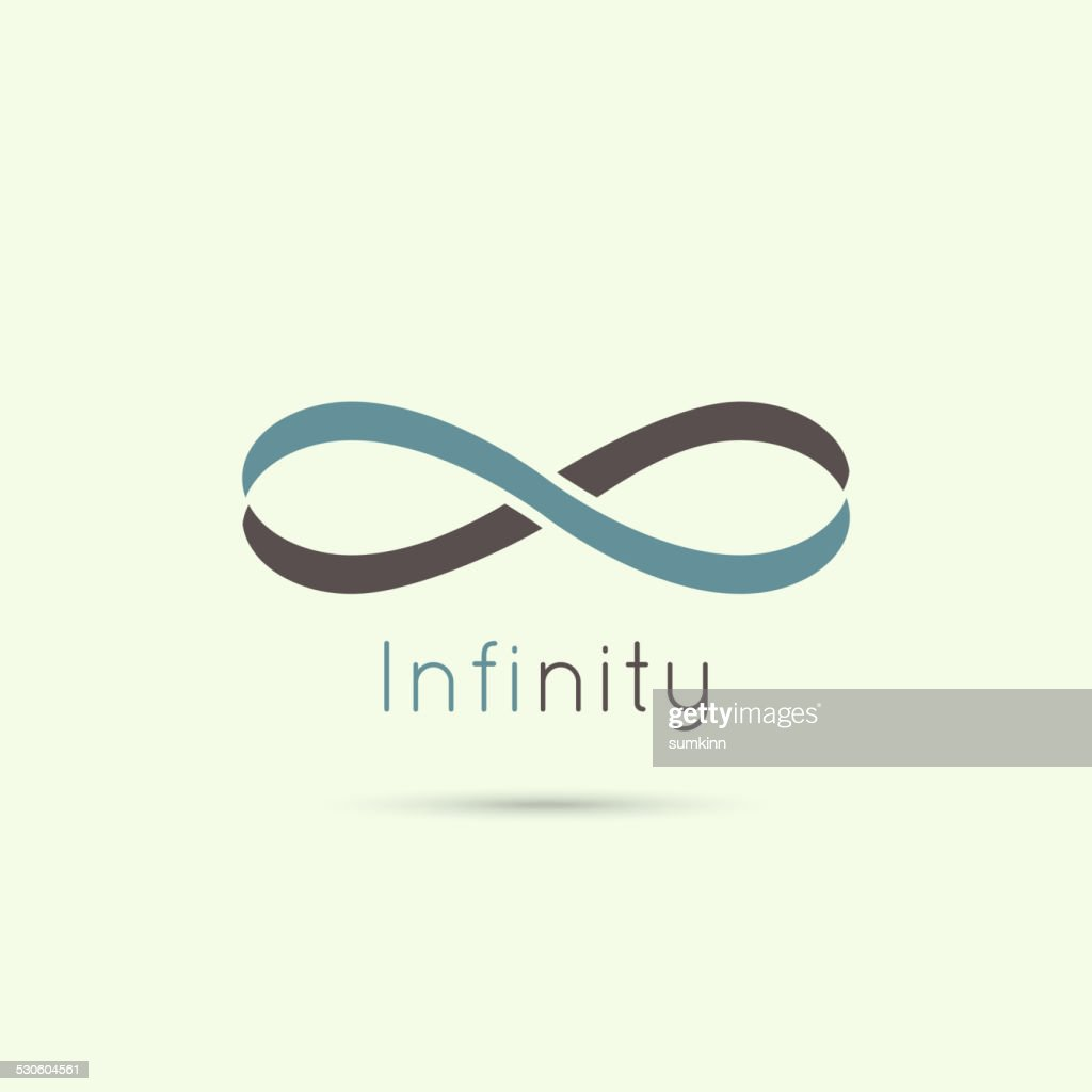 Infinity sign from the colored stripes of tape.