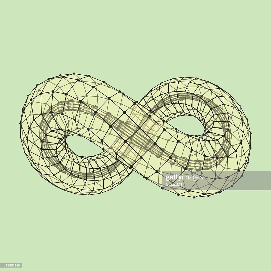 Infinity symbol. Can be used as design element, emblem, icon.