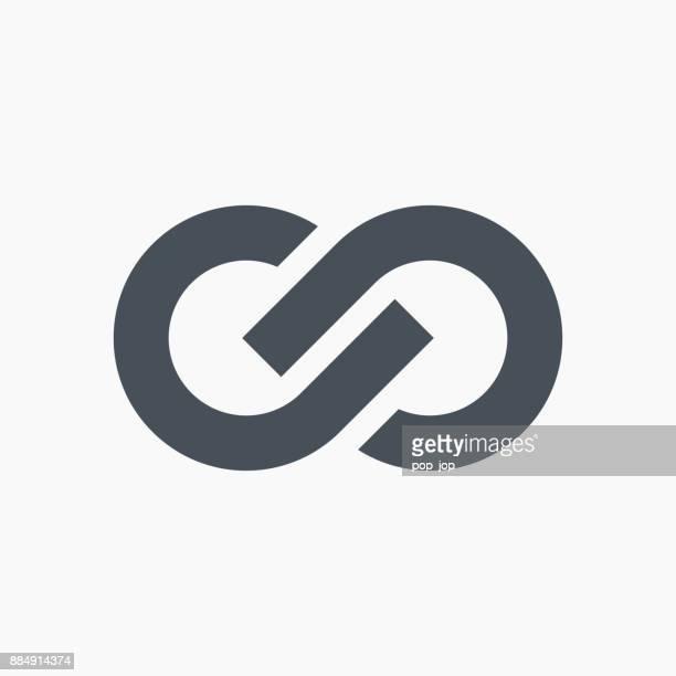 Infinity symbol icon - vector