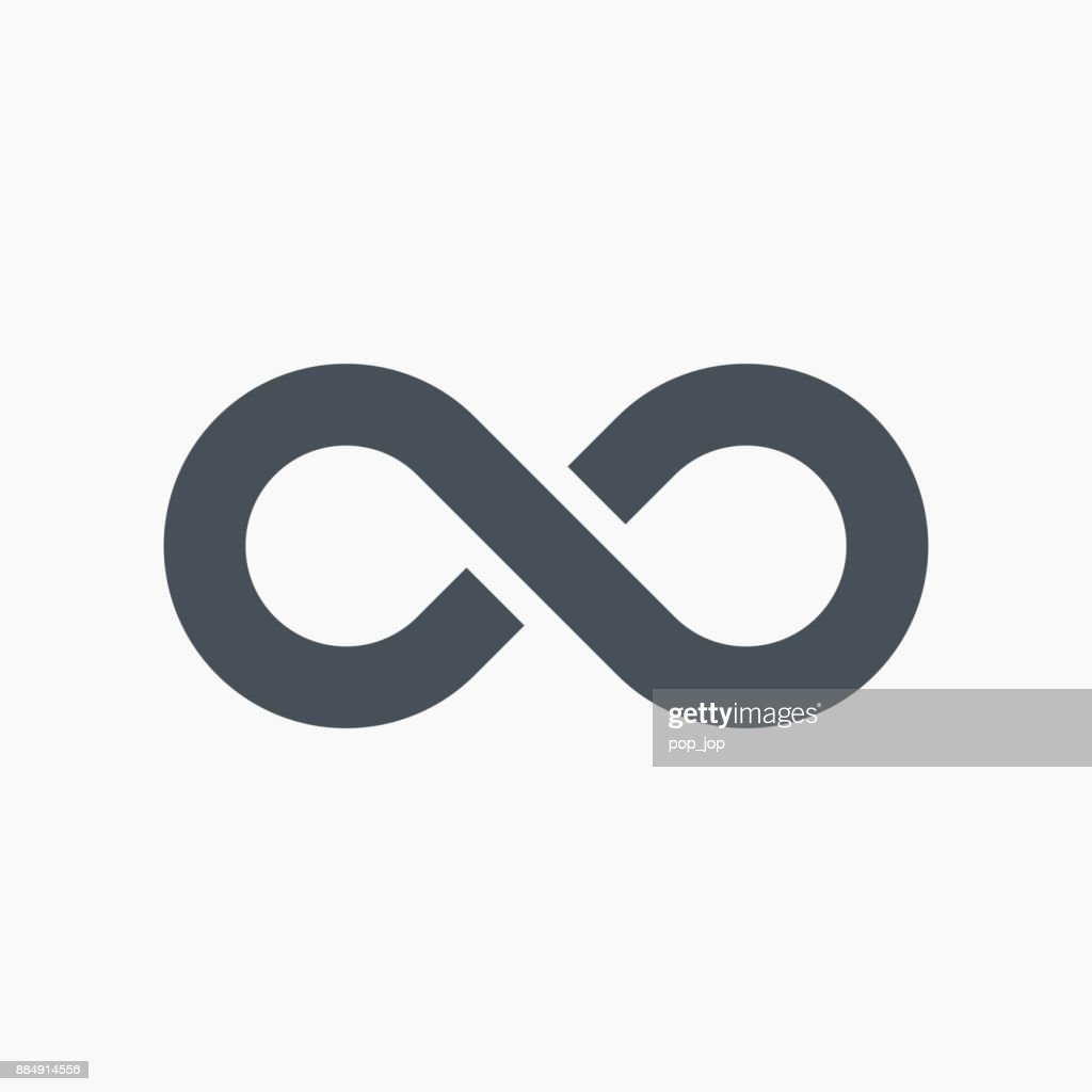 Infinity Symbol Icon Vector Vector Art Getty Images