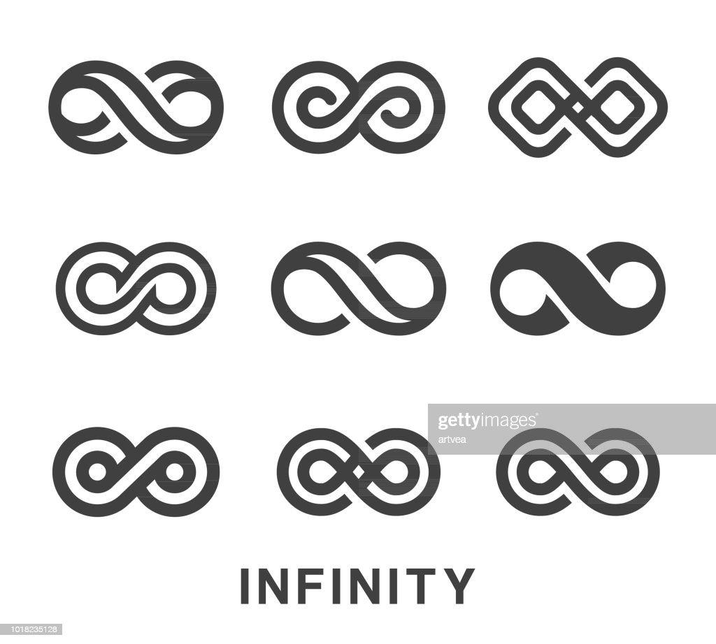 Infinity Symbol Icons Set : stock illustration
