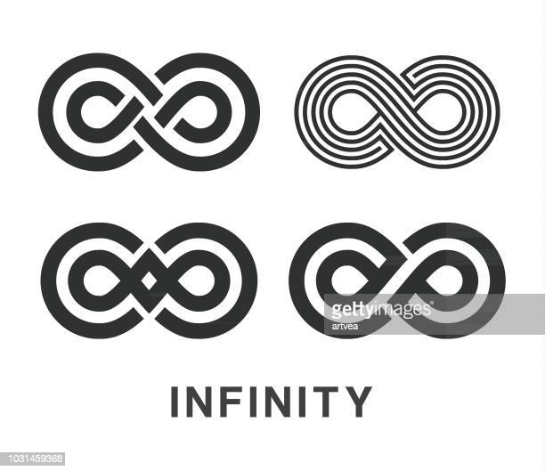 Unendlichkeit Symbol Icons Set