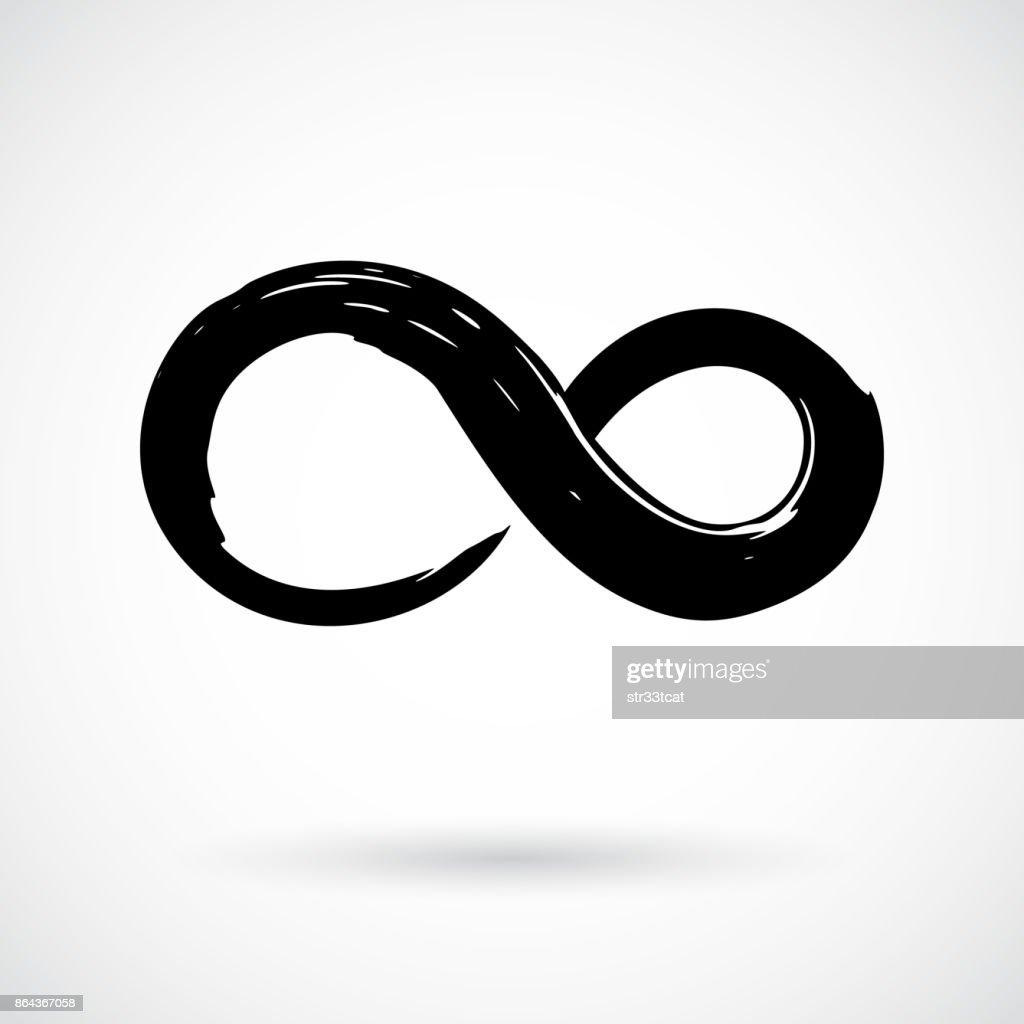 Infinity Symbol Ink Brush Stroke Vector Art Getty Images