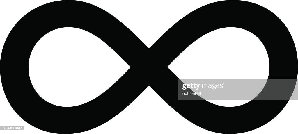 Infinity Symbol Outline Simple Illustration on White Background