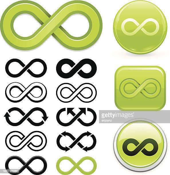 infinity symbol - infinity stock illustrations