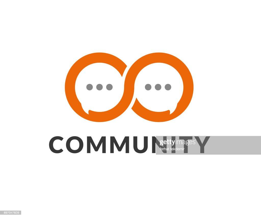 infinity talk vector icon