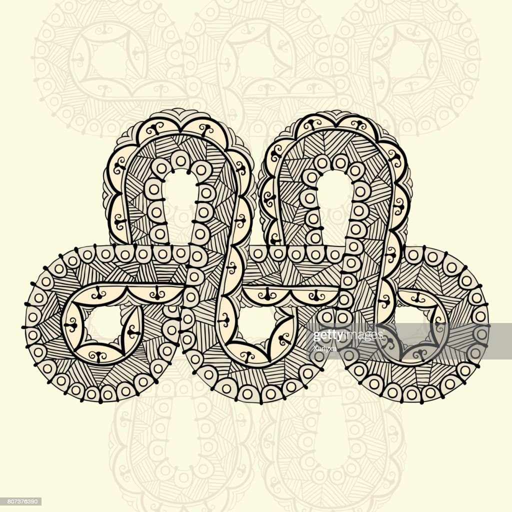 Infinity Tattoo Template In Doodle Style Vector Art | Getty Images