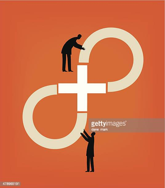 infinity - togetherness stock illustrations