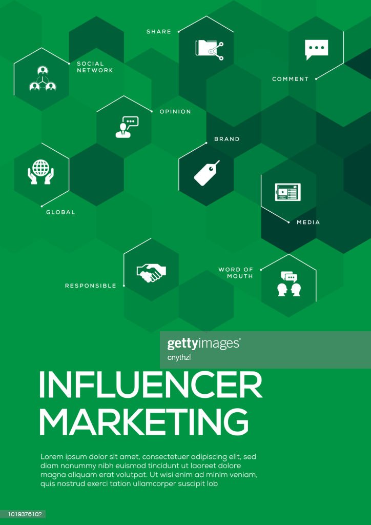 influencer marketing brochure template layout cover design vector art