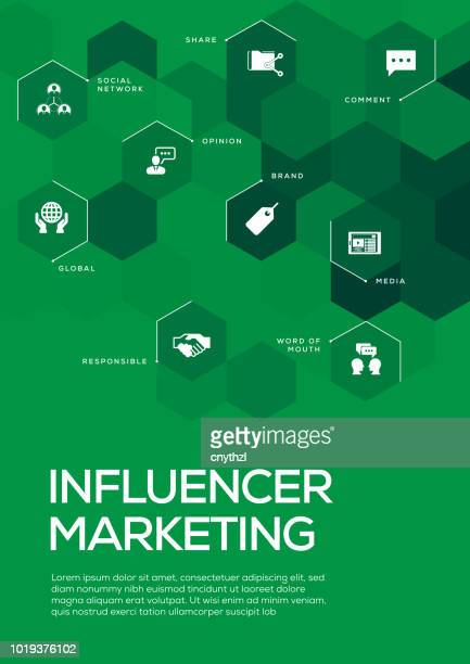 Influencer Marketing. Brochure Template Layout, Cover Design