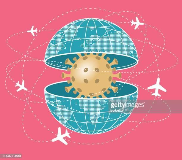 ilustraciones, imágenes clip art, dibujos animados e iconos de stock de virus de la gripe - arma biológica