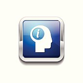 Info Blue Vector Icon Button
