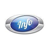 Info Blue Vector Icon Button