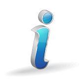 Info Glossy Vector Icon Design