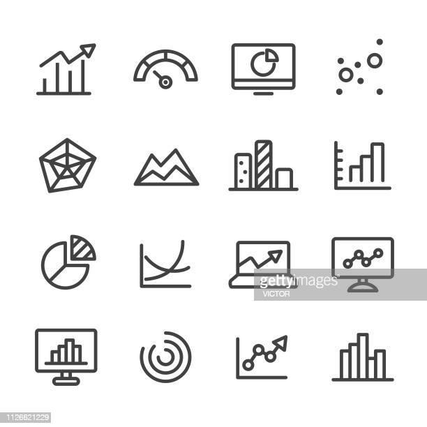 info graphic icon - line series - spreadsheet stock illustrations