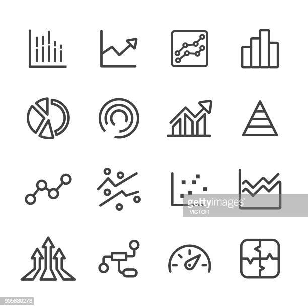 info graphic icons - line series - growth stock illustrations