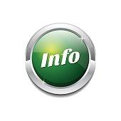 Info Green Vector Icon Button