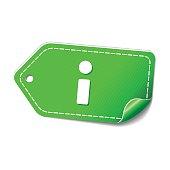 Info Green Vector Icon Design