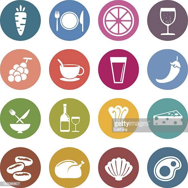 Info-Symbol: Speisen und beverge