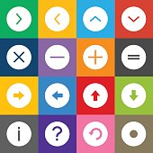 Info Icons Circle Outline and Color Background