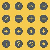 Info Icons Circle Outline - Background