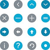 Info Icons Circle Outline - Color