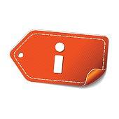 Info Orange Vector Icon Design