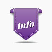 Info Purple Vector Icon Design