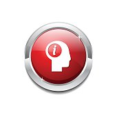 Info Red Vector Icon Button