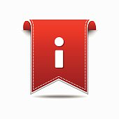 Info Red Vector Icon Design