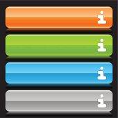 Info sign orange green blue gray button glossy icon