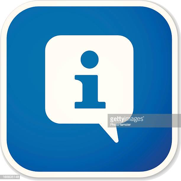 info sq sticker - information symbol stock illustrations, clip art, cartoons, & icons