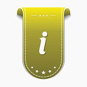 Info Yellow Vector Icon Design