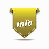 Info Yellow Vector Icon Design