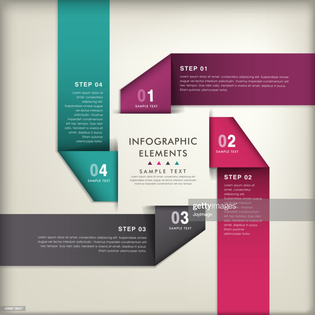 3D infographic abstract image template