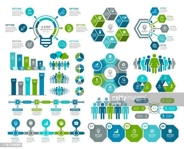 infografik und personalelemente - diagramm stock-grafiken, -clipart, -cartoons und -symbole