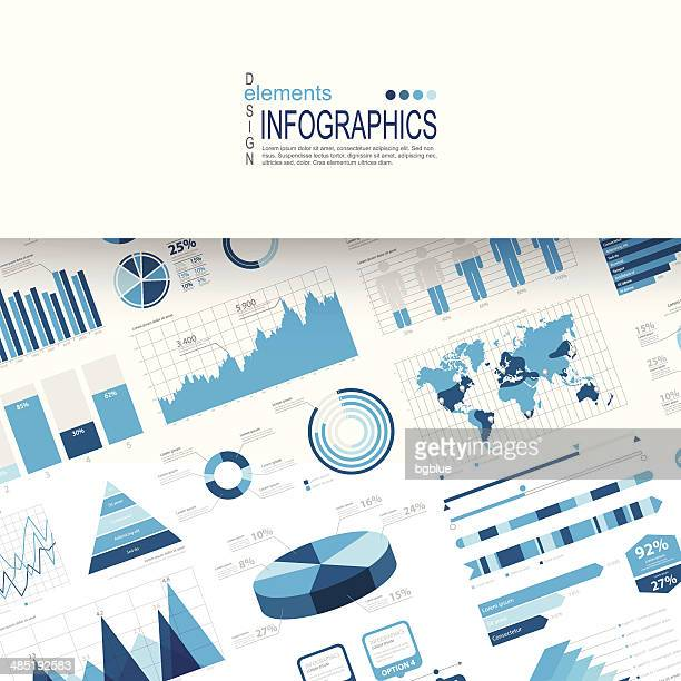 infographic background - line graph stock illustrations