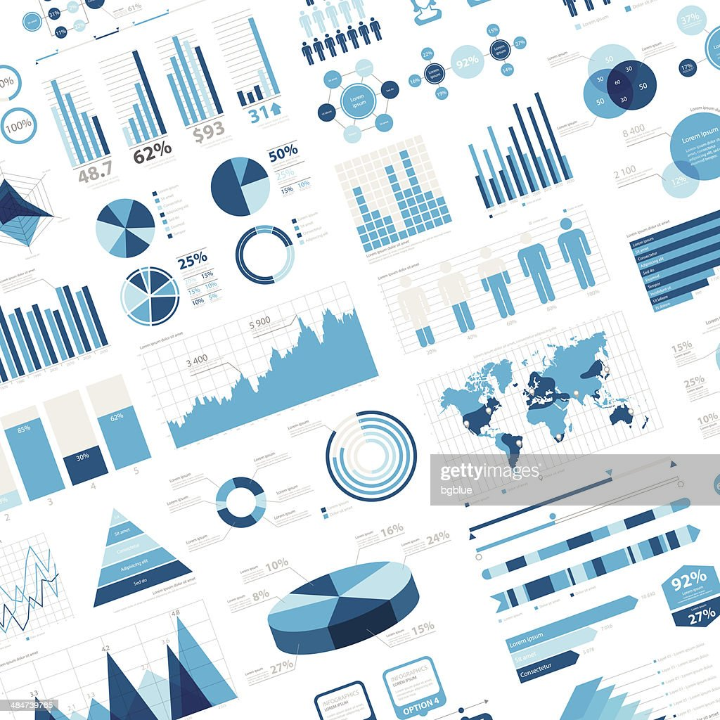 Infographic Background with charts and diagrams