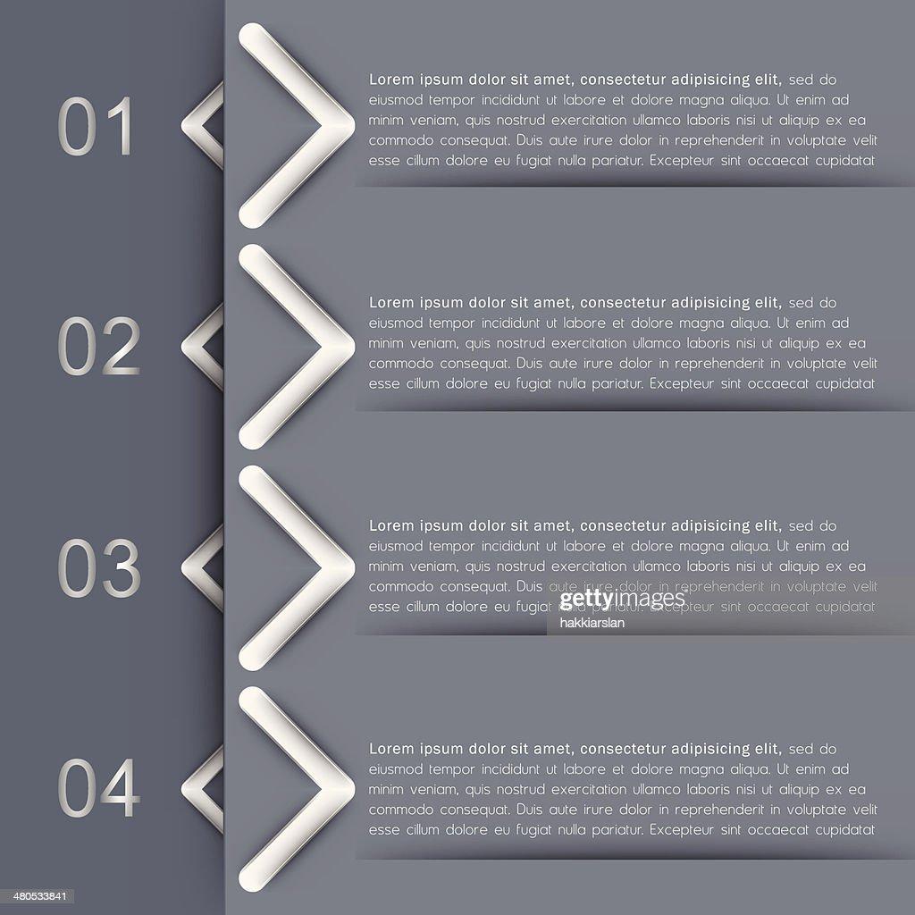 Infografik Banner design-Vorlage : Vektorgrafik